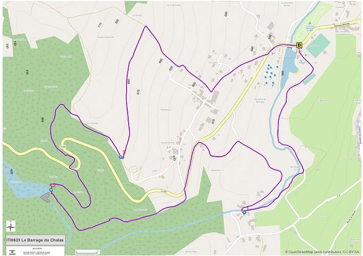 Le barrage du Chalas (carte)