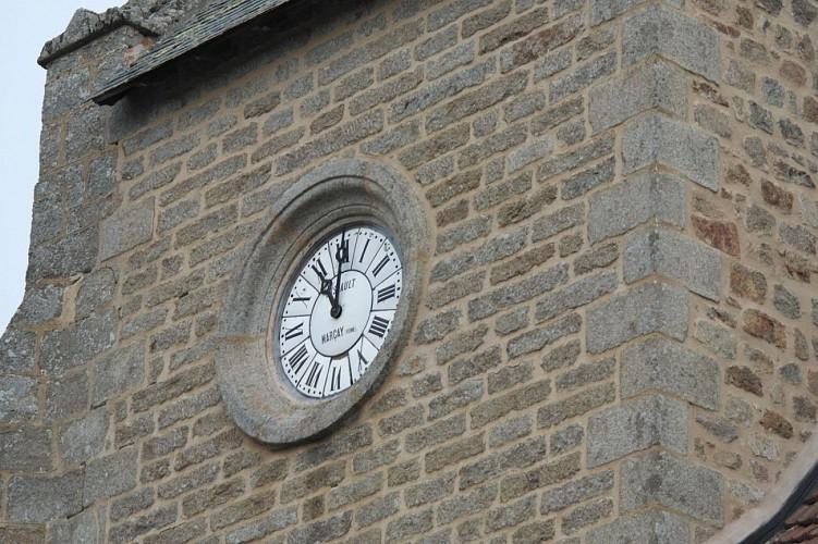 l' horloge de l' église