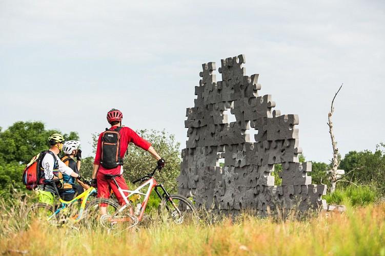 Land Art en pierres de Volvic