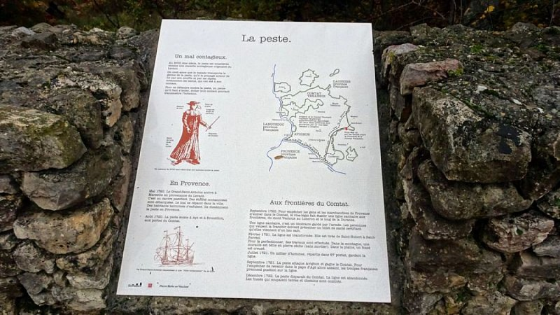 Le Mur de la Peste au Col de la Ligne