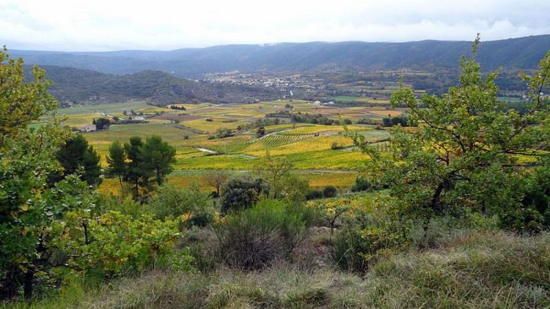 Plaine de Méthamis vue de Bagnol
