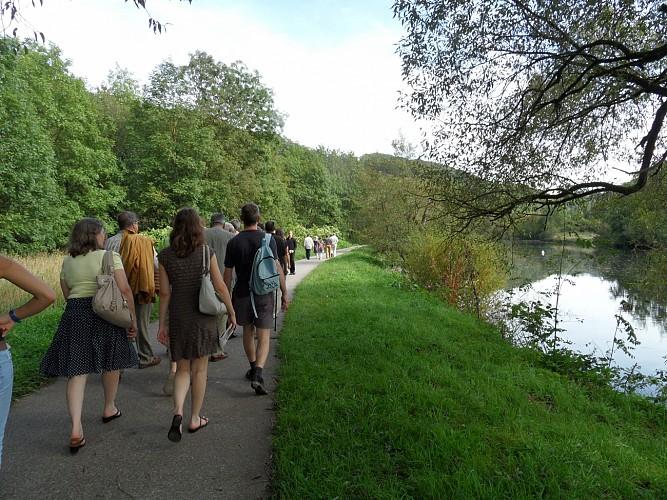Autour de Comblain-au-Pont - Promenade 12 : Place Puissant - Canal - Embiérir - Sart - Ry d'Oneux