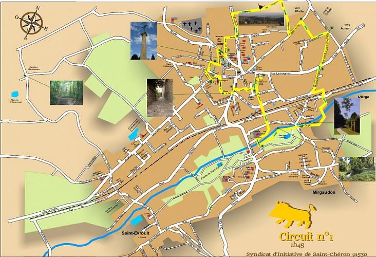 Balade des 3 sangliers à Saint-Chéron - circuit jaune