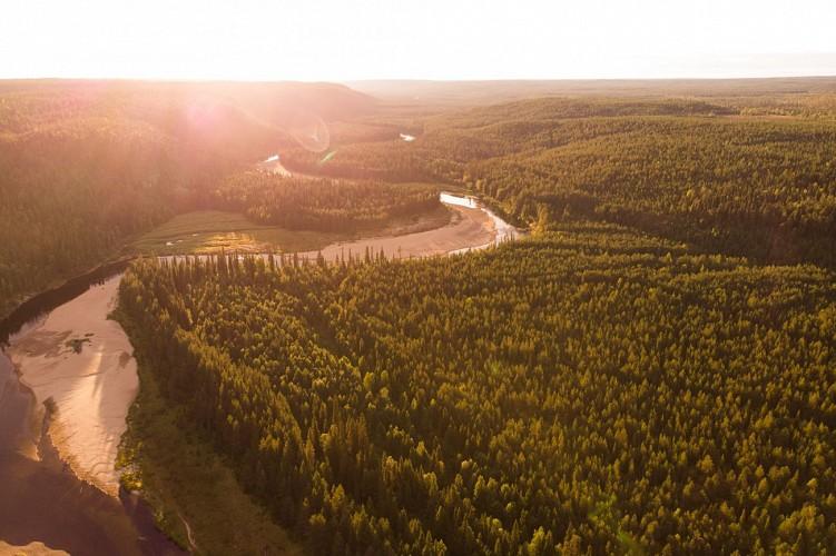 Packraft sur la rivière Oulanka et retour par le Karhunkierros