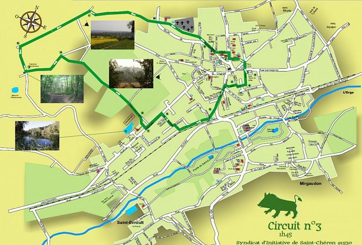 Balade des 3 sangliers à Saint-Chéron - circuit vert