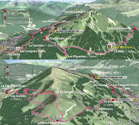 Le Grand Tour du Mont-Chéry  and alternative route