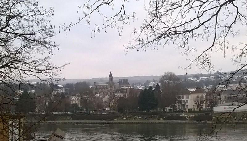 Triel sur Seine vu de la rive gauche de la Seine