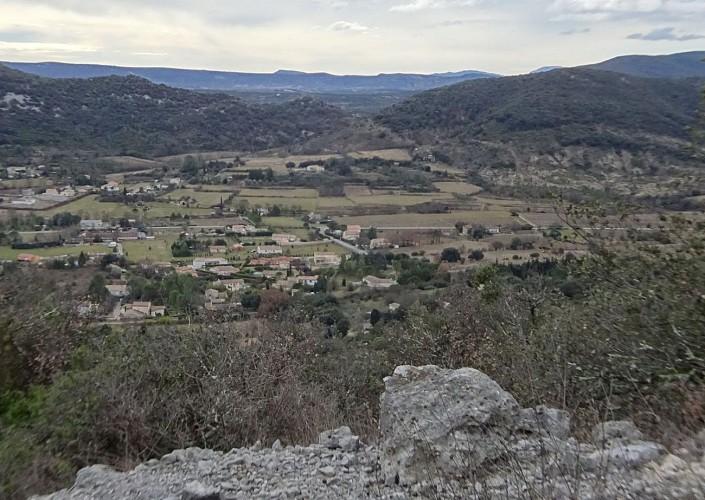 Trou de la Colle vue vers le S Plaine Ste Hippolyte