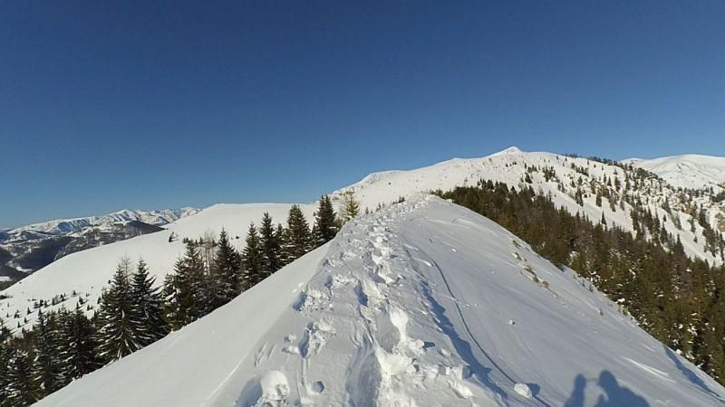 Le mont mounier depuis les crêtes du Countent