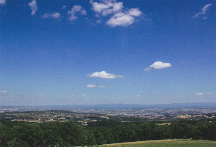Panorama sur la plaine de la Limagne depuis La Salesse