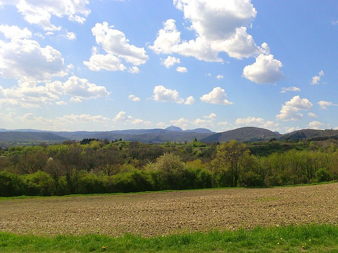 Panorama sur la Chaîne des Puys