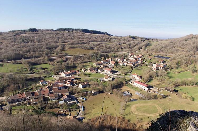 Panorama depuis le belvédère de Montagne-le-Reconduit