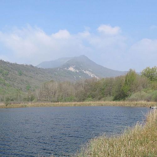 La montagne de Tentanet depuis les lacs de Conzieu