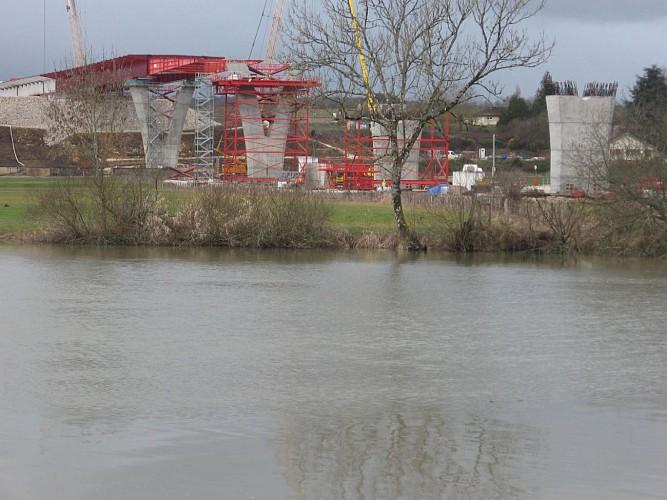 58.Port-sur-Saône.D20.Construction viaduc de contournement de Port-sur-Saône.