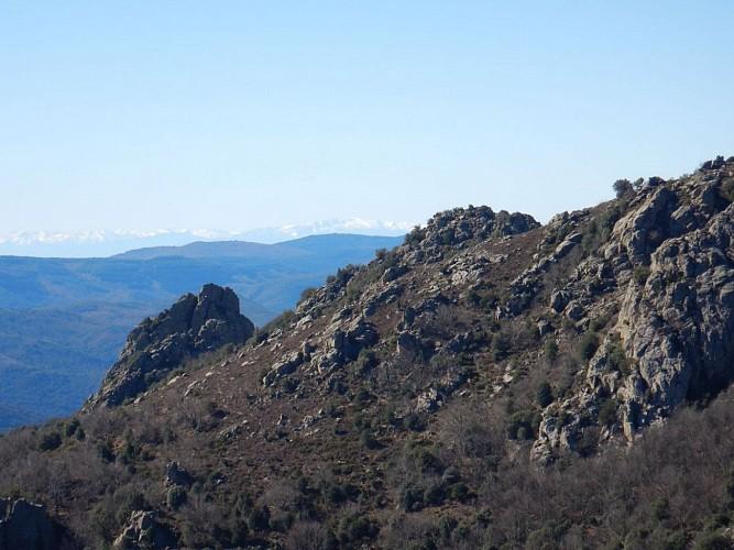 Taoutello vue vers les Pyrénées