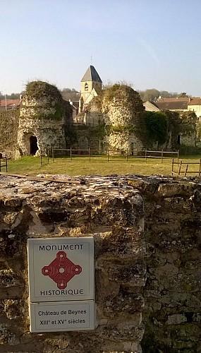 Château et église de Beynes