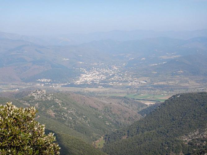Pic de la Coquillade vue vers la vallée de l'Orb et Lamalou