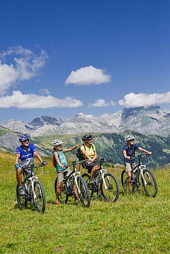 Combloux mountain-biking area: Top of Combloux (n°32)