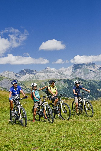 Combloux mountain-biking area - Itinerary 32: Top of Combloux