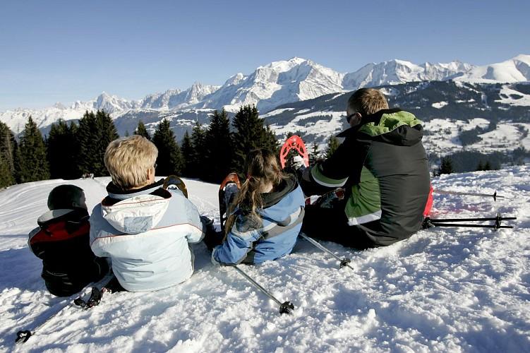 Snowshoes itinerary: le Col du Jaillet