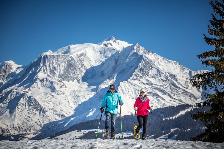 Snowshoeing itinerary : Megève