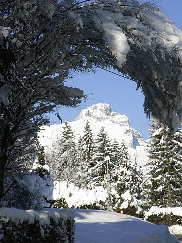 "Snowshoes itinerary : ""l'Alpage de Planset"" loop"
