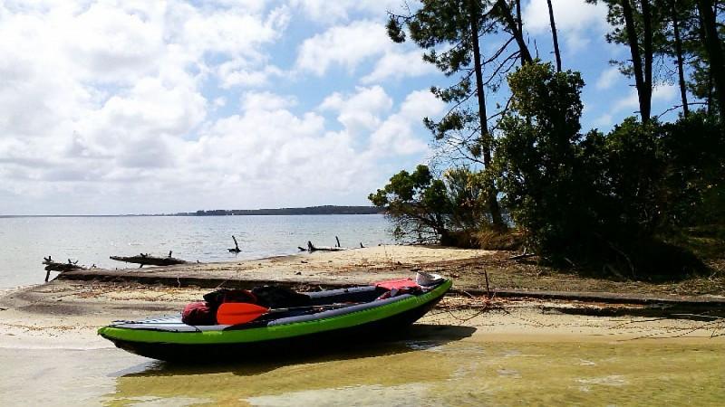 La pointe de Malignac sur le lac d'Hourtin