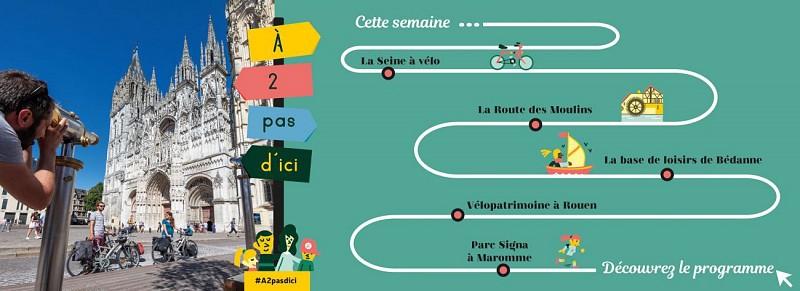 Parcours vélo-patrimoine : Sur les terres des moines de Jumièges