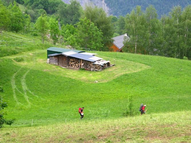 La Toussuire - La Rochette path