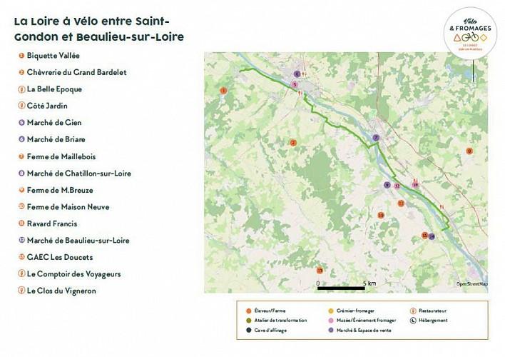 Vélo & Fromages, la Loire à Vélo de Saint-Gondon à Beaulieu-sur-Loire