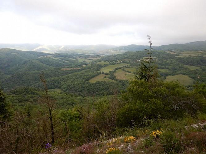 Vue vers l'Ouest depuis e  Col du Rouyre Blanc
