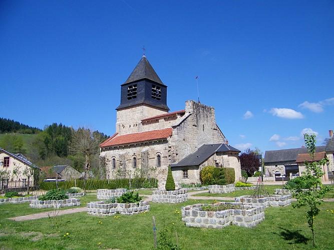 Église et jardin médiéval d'Arronnes