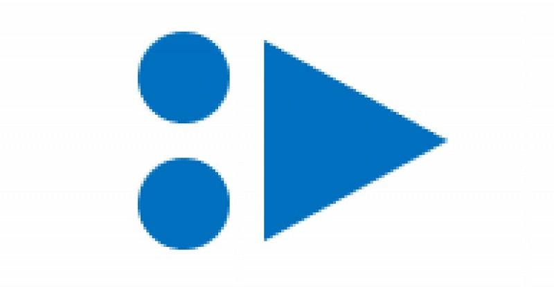 Balise flèche VTT bleu