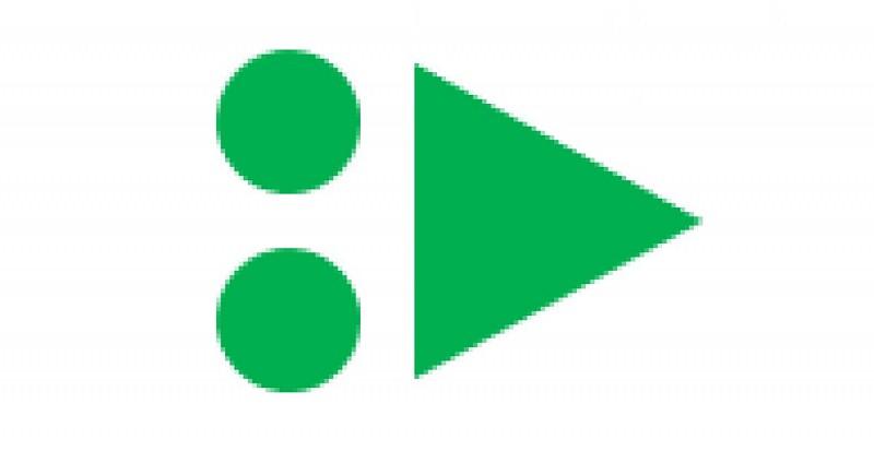 Balise flèche VTT verte