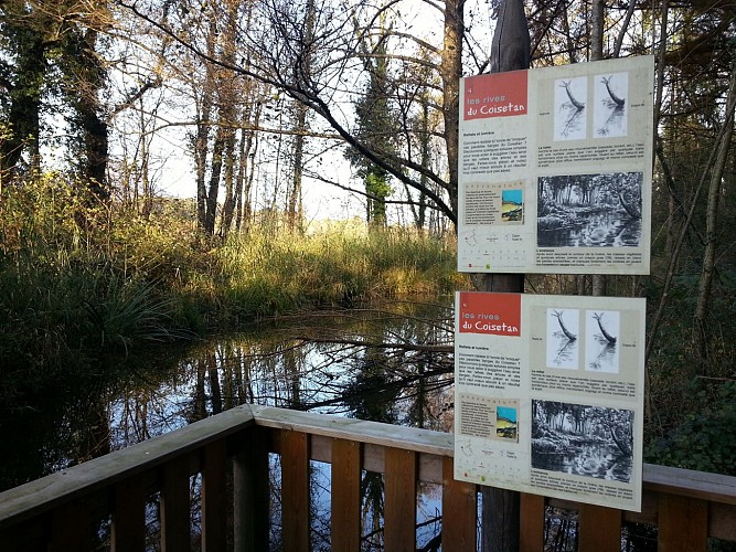 Easy-going walk: Lakeside path and Randocroquis art path on the banks of the Coisétan