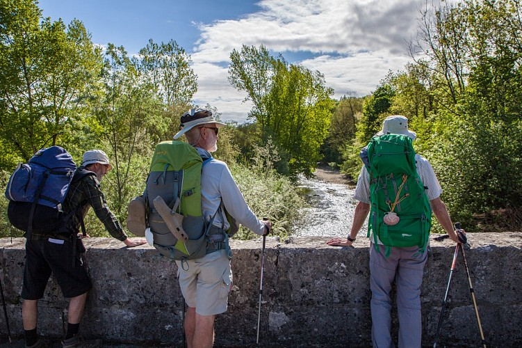 Hiking on the way to St Jacques de Compostelle - GR 65