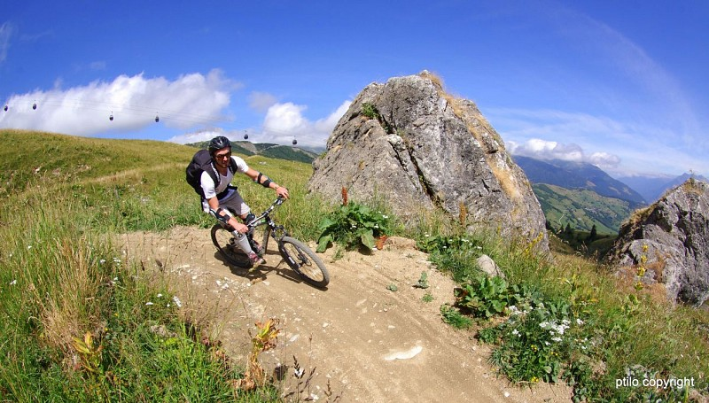 "Mountain bike downhill track ""Green Show"""