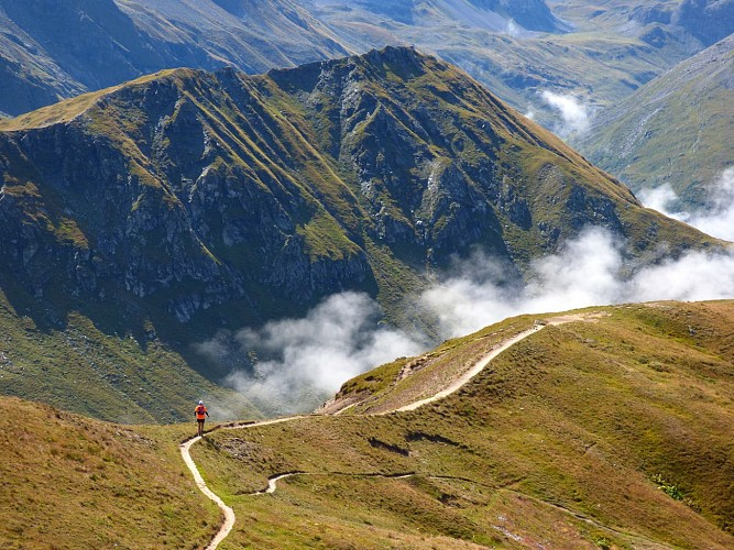 Vallandry vers Aiguille Grive via Entreporte