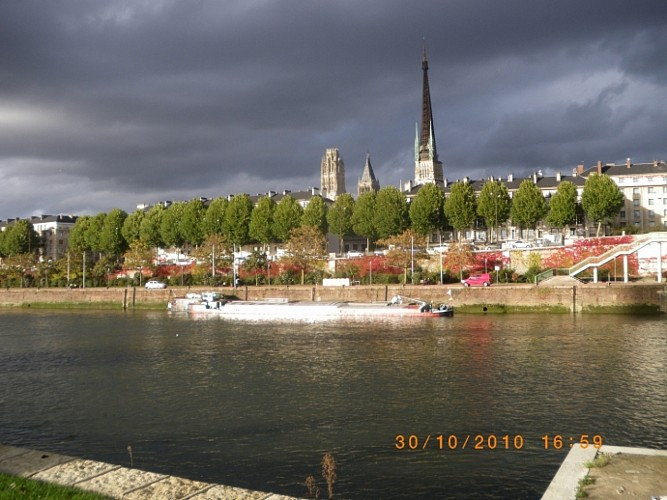 Découverte de l'ile Lacroix et des quais amménagés de Rouen