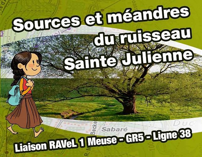 Sources et méandres du ruisseau Sainte-Julienne