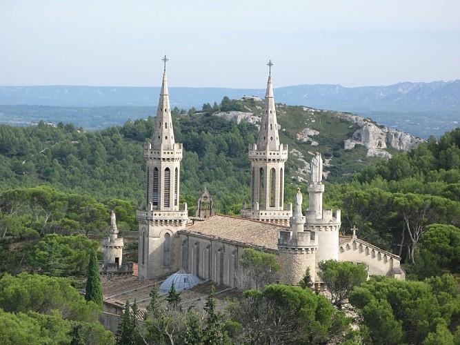 Sur la route de l'Abbaye de Frigolet