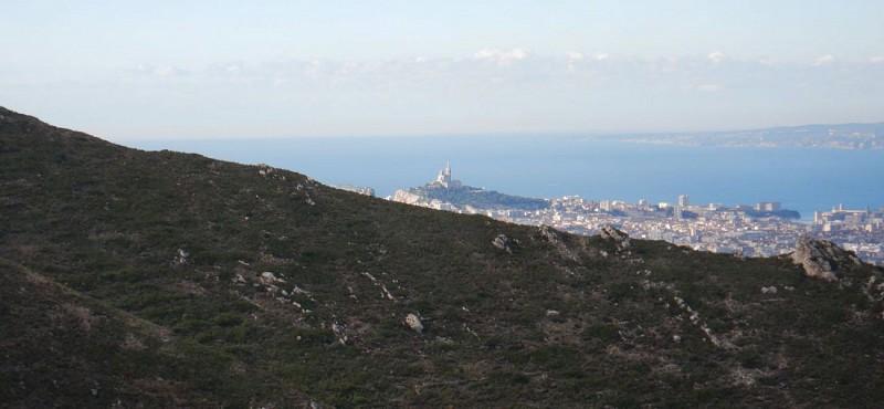 La Bonne Mère vue du Mt St Cyr