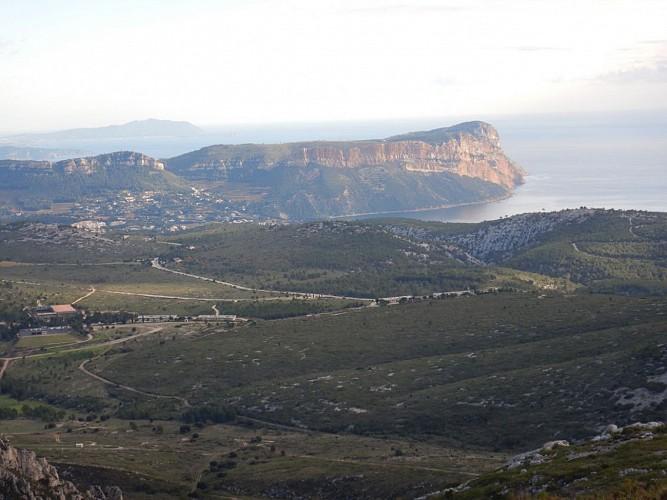 Cassis vu du Mt Carpiagne
