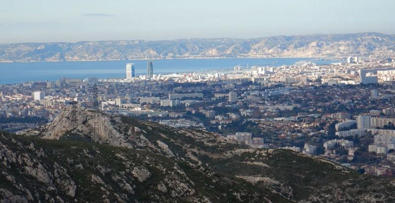 Marseille vue du col Galvaudan