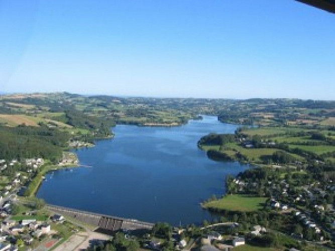 Circuit vélo autour du lac de Villefranche de Panat - 11km