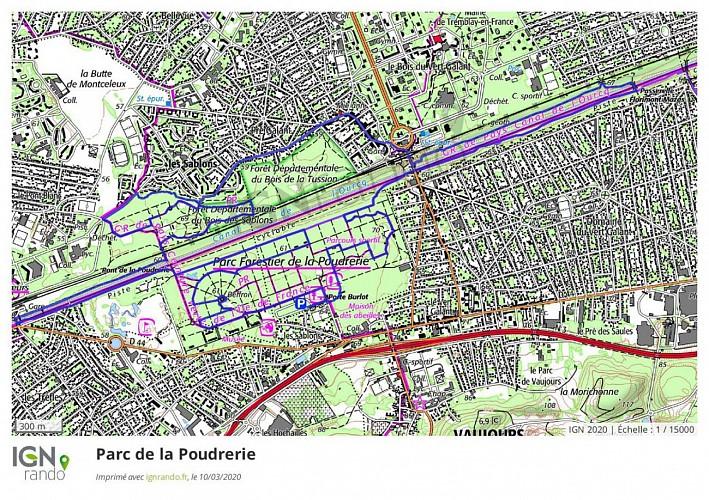 Le parc de la Poudrerie et le canal de l'Ourcq