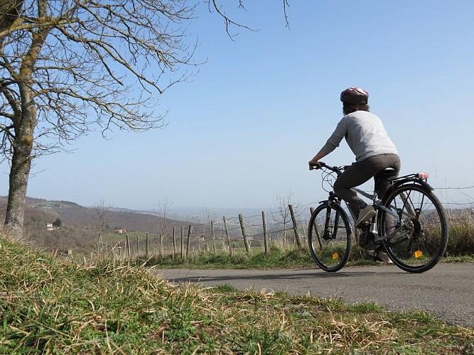 A vélo dans les Monts du Lyonnais