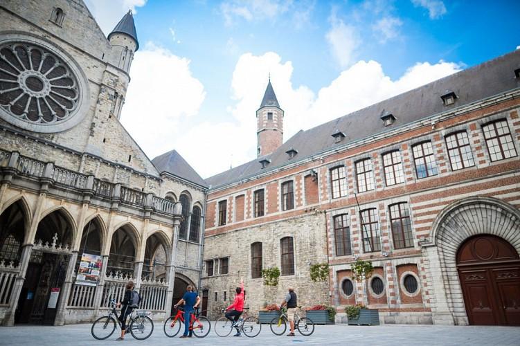 Die UNESCO-Fahrradroute - Etappe 1 von Tournai nach Mons