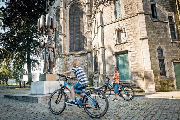 Die UNESCO-Fahrradroute -  Etappe 3 von Binche nach Thuin