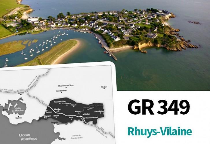 GR 349 Rhuys-Vilaine (Officiel): étape 00 Ensemble de l'itinéraire sur Arc Sud Bretagne